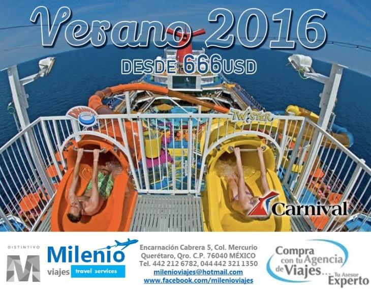 CARNIVAL CRUISES PROMO VERANO 2016