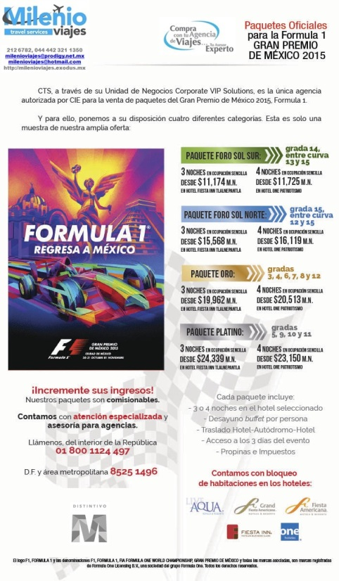 FORMULA 1 MEXICO 2015 - MVCTS