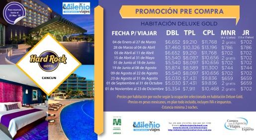 Aprovecha Tarifas de ocmpra anticipada de Hard Rock Cancún milenioviajes@hotmail.com 442 212 6782, 044 442 321 1350