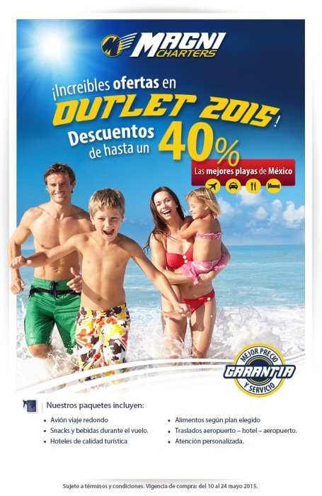 MAGNICHARTERS - OUTLET MAYO 2015