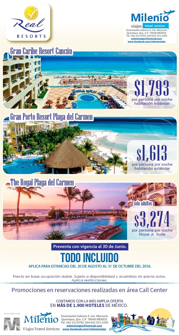 REAL RESORTS PREVENTA AL 30 JUN 2016 - MVPMS