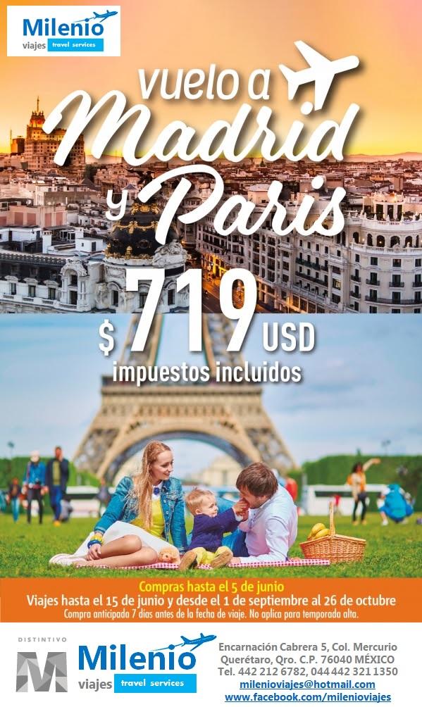 VUELOS MADRID PARIS PROMO MAYO 2016 - MVPEO