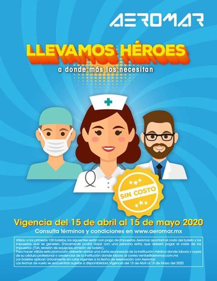 AEROMAR LLEVANDO HEROES